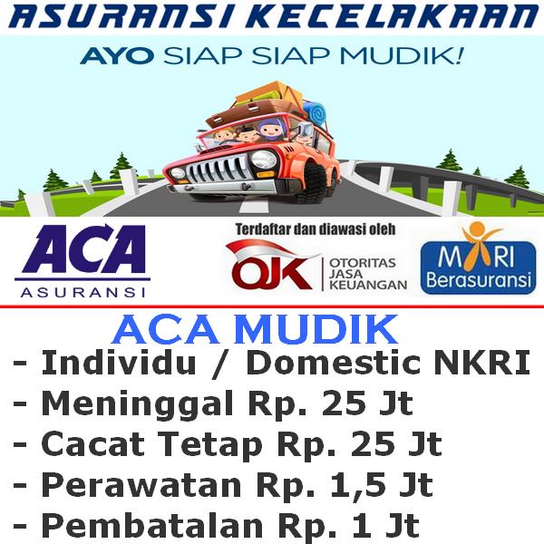 Asuransi Mudik ACA Premi Rp. 20.000 - Individu (Durasi Travel H-7 s/d H+7)
