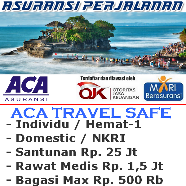 ACA Travel Safe Domestic  Hemat-1 Individu (Durasi Travel 1-7 Hari)