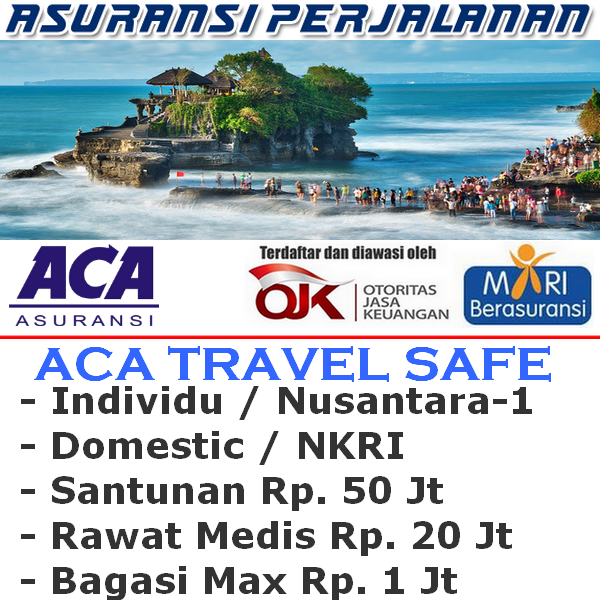 ACA Travel Safe Domestik Nusantara-1 Individu (Durasi Travel (05-11 Hari)