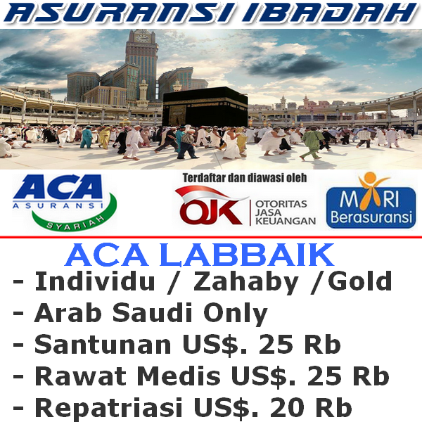 ACA Labbaik Gold Travel Safe Haji & Umroh Individu (Durasi Travel 01-10 Hari)