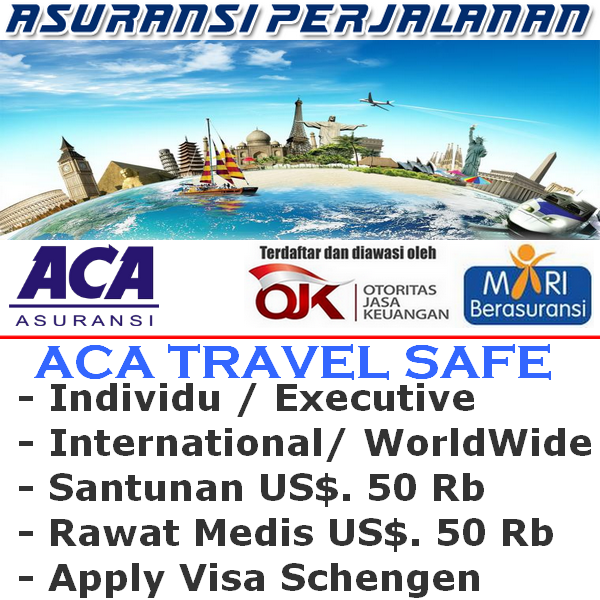 ACA Travel Safe International Worldwide Executive Individu (Durasi Travel 1-4 Hari)