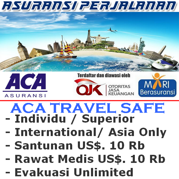 ACA Travel Safe International Asia Only - Superior Individu (Durasi Travel 1-4 Hari)