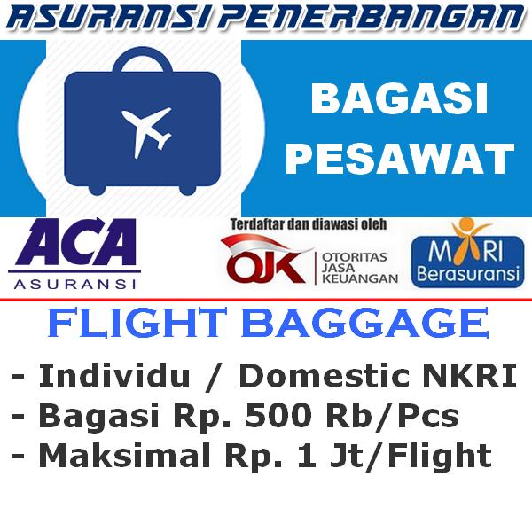 ACA Travel Safe Domestic Hilang Bagasi - Individu (Sekali Terbang)
