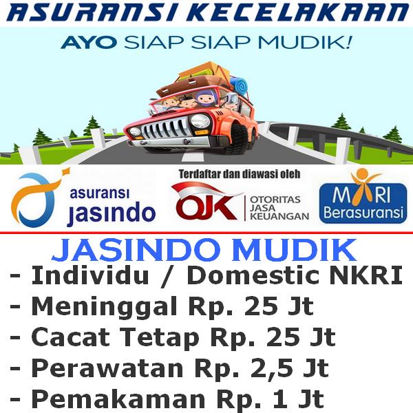 Asuransi Mudik Jasindo Premi Rp. 10.000 - Individu (Durasi Travel H-10 s/d H+10)